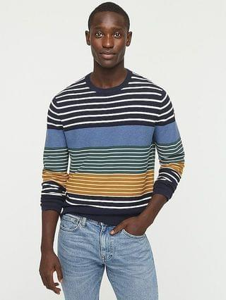 MEN Cotton sweater in stripe garter stitch