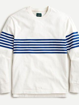 MEN Rugby crewneck shirt in chest stripe