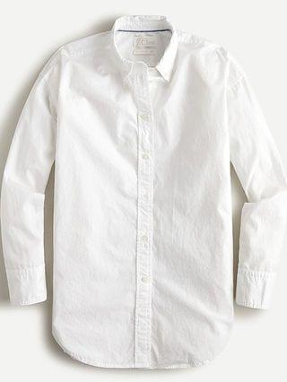 WOMEN Relaxed-fit washed cotton poplin shirt