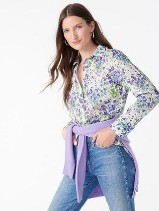 WOMEN Classic-fit popover in Liberty Sweat Pea Bouquet