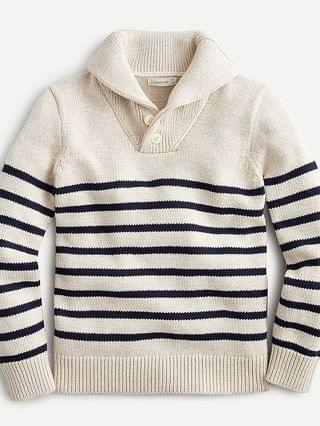 KIDS Kids' shawl-collar sweater in stripe