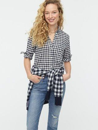 WOMEN Classic-fit shirt in crinkle gingham