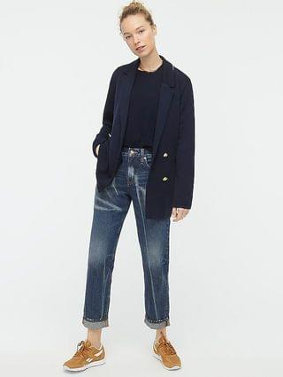 WOMEN Double-breasted sweater-blazer