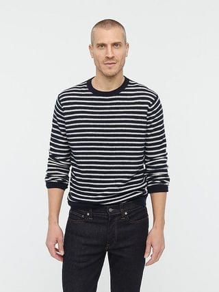 MEN Cashmere waffle-knit sweater in stripe