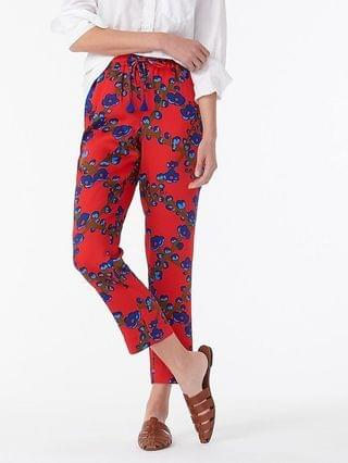 WOMEN Drapey pull-on pant in lattice floral