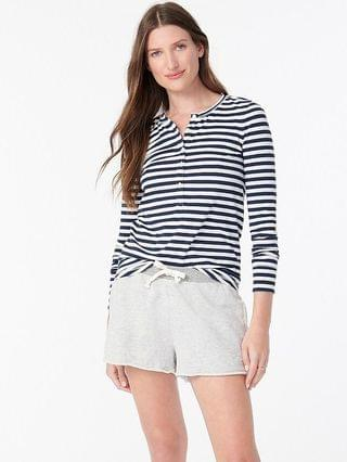 WOMEN Henley in striped dreamy cotton