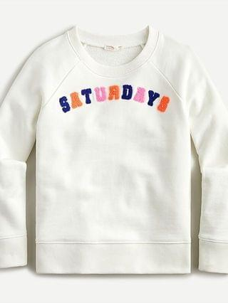 "KIDS Girls' ""Saturdays"" sweatshirt"