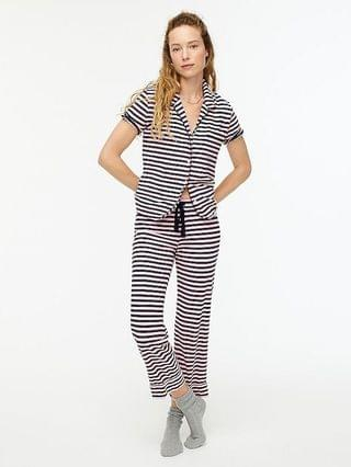 WOMEN Dreamy short-sleeve cropped pajama set in stripe