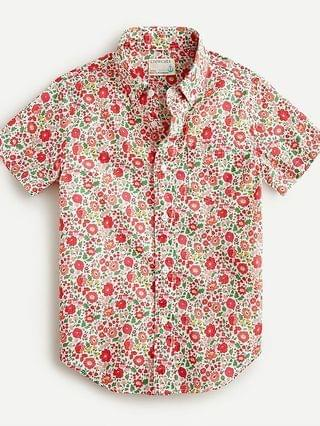 KIDS Boys' short-sleeve shirt in Liberty Danjo floral