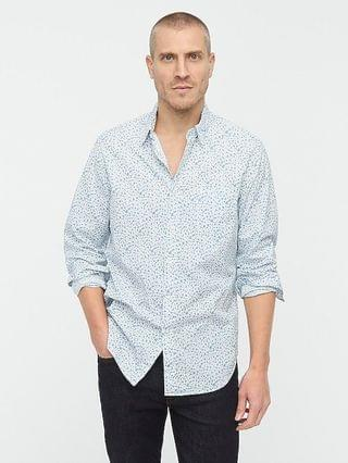 MEN Stretch Secret Wash cotton poplin shirt in print