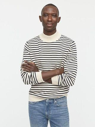 MEN Cotton mock-neck sweater in stripe