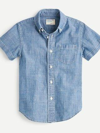 KIDS Boys' short-sleeve chambray button-down