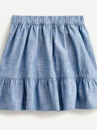 KIDS Girls' tiered chambray skirt