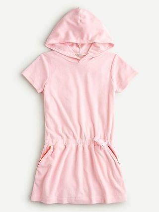 KIDS Girls' hoodie dress in cotton terry with UPF 50