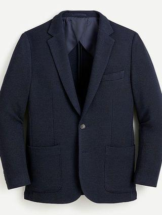 MEN Ludlow Slim-fit knit blazer in Italian wool
