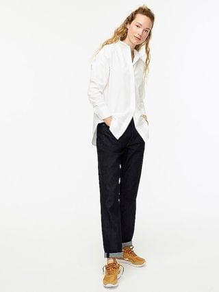 WOMEN Relaxed-fit crisp cotton poplin shirt