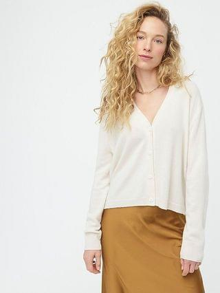 WOMEN Relaxed-fit cashmere cardigan sweater