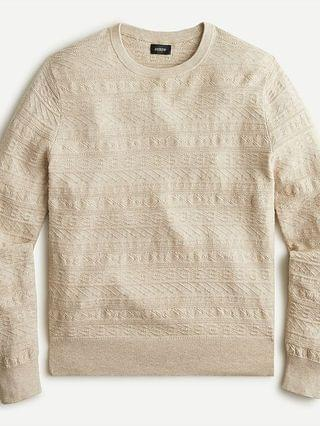 MEN Cotton sweater in combination guernsey stitch