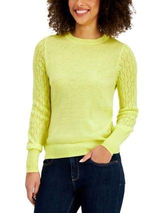 WOMEN Mixed-Stitch Pointelle Sweater Created for Macy's