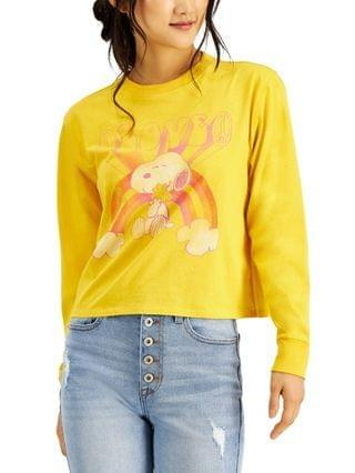 WOMEN Mighty Fine Juniors Peanuts Snoopy Graphic Long Sleeve Top