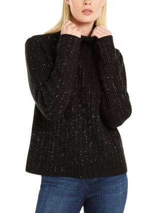 WOMEN INC Embellished Turtleneck Sweater Created for Macy's