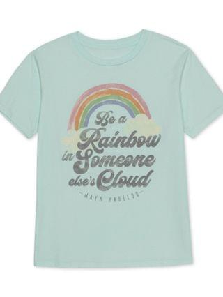 WOMEN Juniors' Rainbow Graphic T-Shirt