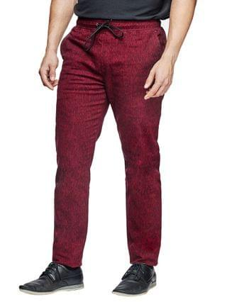 MEN Slim Fit Texture Print Jogger Pants and a Free Face Mask