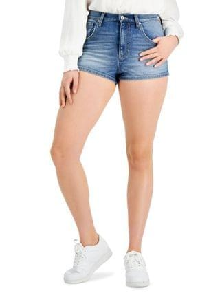 WOMEN Juniors' High-Rise Jean Shorts