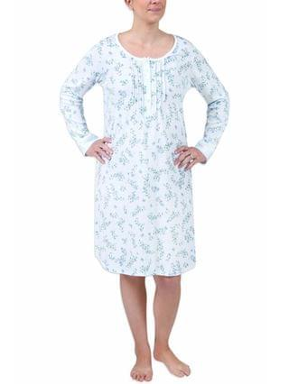 WOMEN Short Floral-Print Knit Nightgown