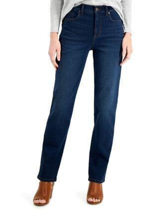 WOMEN Petite Natural Straight-Leg Jeans Created for Macy's