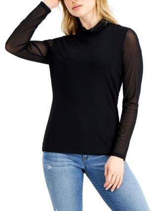 WOMEN INC Mesh Turtleneck Top Created for Macy's