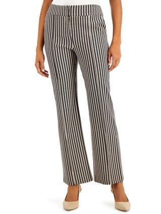 WOMEN Printed Pintucked Trousers Created for Macy's