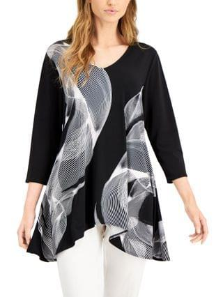 WOMEN Abstract-Print Swing Top Created for Macy's