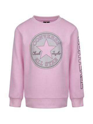 KIDS Big Girls Chuck Patch Sweatshirt