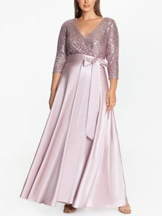 WOMEN Plus Size Sequin-Top Ball Gown