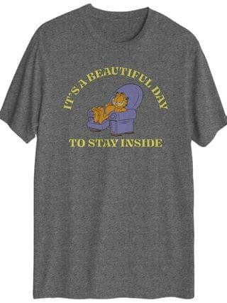 MEN Garfield's It's A Beautiful Day To Stay Inside T-shirt