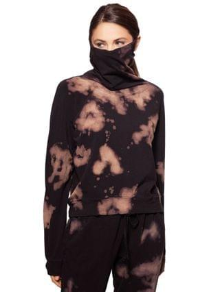 WOMEN Tie-Dyed Pullover Top With Attached Mask Created for Macy's