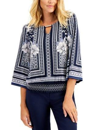 WOMEN Plus Size Printed Top Created for Macy's