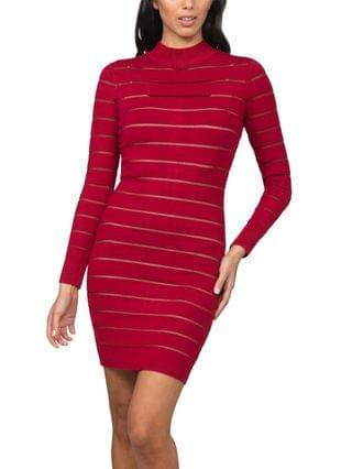 WOMEN Juniors' Shutter-Style Sweater Dress