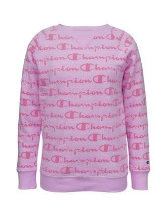 KIDS Aop Layered Script Big Girls Fleece Crew Hoodie