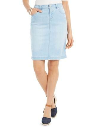 WOMEN Basic Denim Skirt Created for Macy's
