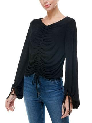 WOMEN Ruched Knit Top