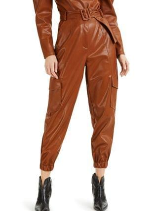 WOMEN CULPOS X INC Faux-Leather Cargo Pants Created for Macy's