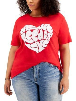 WOMEN Plus Trendy All We Need Is Love T-Shirt