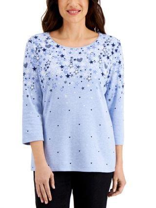 WOMEN Star Fall Printed Top Created for Macy's