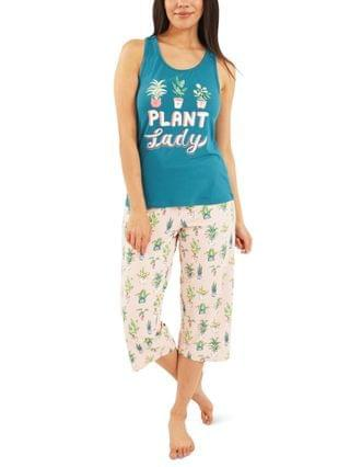 WOMEN Plant Lady Capri Pajamas Set