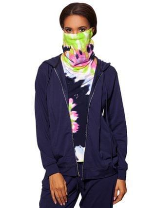 WOMEN Zip Up Hoodie & Removable Tie-Dye Dickie Face Mask Created for Macy's