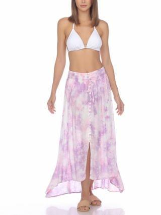WOMEN Tie-Dyed Cover-Up Skirt