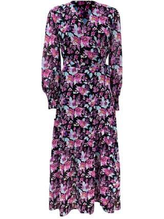 WOMEN Floral-Print Wrap Maxi Dress Created for Macy's