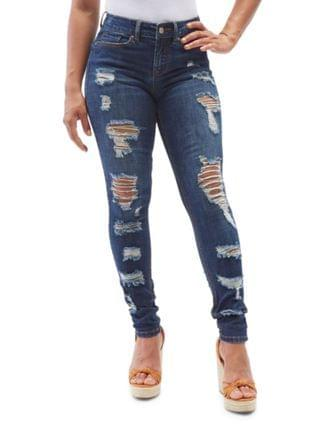 WOMEN Juniors' Ripped Skinny Jeans